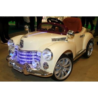 Электромобиль Bentley E999КХ бежевый/хром
