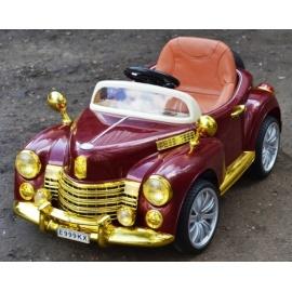 Электромобиль Bentley E999КХ бордо/золото