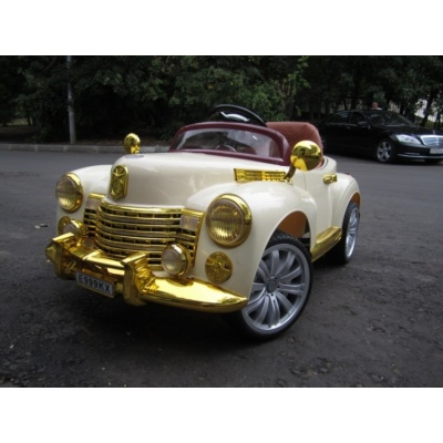 Электромобиль Bentley E999КХ бежевый/золото