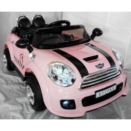 Электромобиль Mini Cooper E777KX розовый