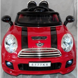 Электромобиль Mini Cooper E777KX VIP красный