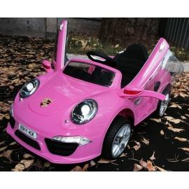 Электромобиль PORSCHE E911KX розовый
