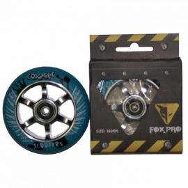 Колесо для самоката FOX 100 мм (голубой/серебро)