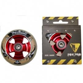 Колесо для самоката FOX 100 мм (белый/красный)