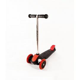 Самокат трехколесный детский EcoBalance черно-красный