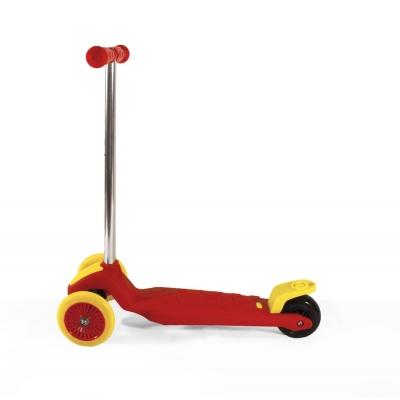 Самокат трехколесный детский EcoBalance красно-желтый