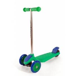 Самокат трехколесный детский EcoBalance зелено-синий