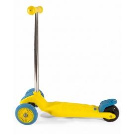 Самокат трехколесный детский EcoBalance желто-голубой