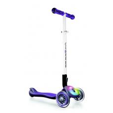Самокат Globber Elite F со светящейся платформой фиолетовый