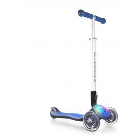 Самокат Globber Elite F со светящейся платформой голубой