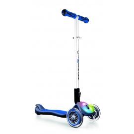 Самокат Globber Elite F со светящейся платформой синий