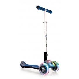 Самокат Globber Elite FL со светящейся платформой и колесами синий