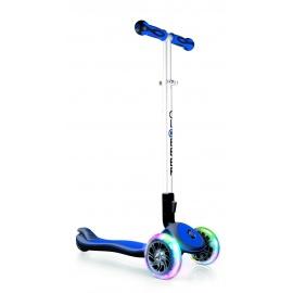 Самокат Globber Elite SL со светящимися колесами синий
