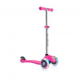 Самокат Globber Primo Lights со светящимися колесами розовый