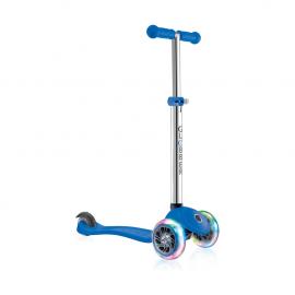 Самокат Globber Primo Lights со светящимися колесами синий