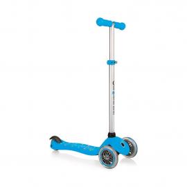 Самокат Globber Primo Starlight со светящейся платформой голубой