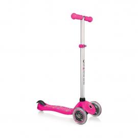 Самокат Globber Primo Starlight со светящейся платформой розовый