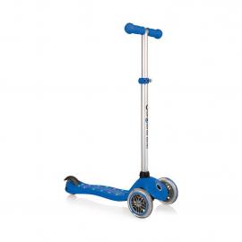 Самокат Globber Primo Starlight со светящейся платформой синий