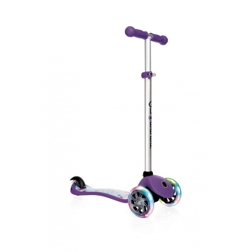 Самокат Globber Primo Fantasy Lights фиолетовый