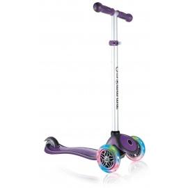 Самокат Globber Primo Plus Lights фиолетовый