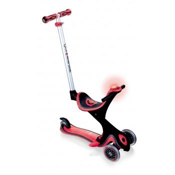 Самокат Globber Evo 5 in 1 Comfort Play со светящимися колесами красный