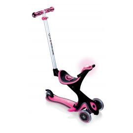 Самокат Globber Evo 5 in 1 Comfort Play со светящимися колесами розовый