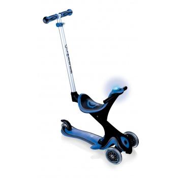 Самокат Globber Evo 5 in 1 Comfort Play со светящимися колесами синий