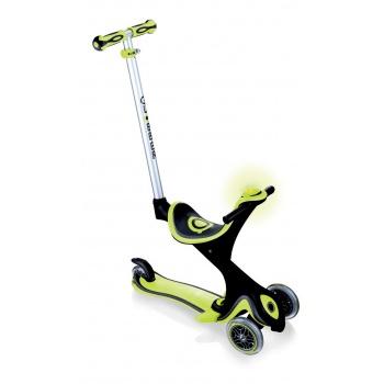 Самокат Globber Evo 5 in 1 Comfort Play со светящимися колесами зеленый