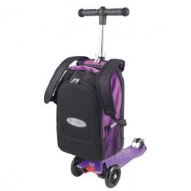 Самокат Micro Maxi 4 в 1 с рюкзаком трёхколёсный сиреневый