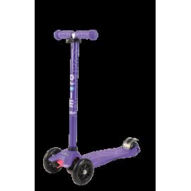 Самокат Micro Maxi T-tube Metallic трёхколёсный фиолетовый