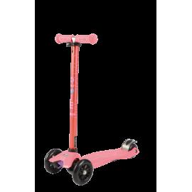 Самокат Micro Maxi T-tube Metallic трёхколёсный розовый