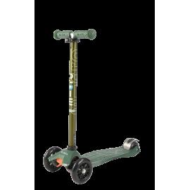 Самокат Micro Maxi T-tube Metallic трёхколёсный зеленый