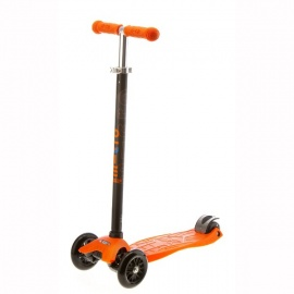 Самокат Micro Maxi T-tube трёхколёсный оранжевый