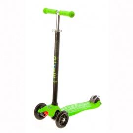 Самокат Micro Maxi T-tube трёхколёсный зеленый