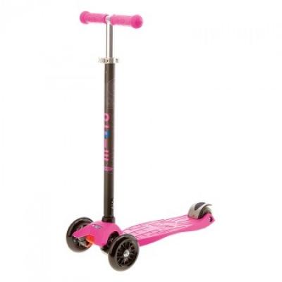 Самокат Micro Maxi T-tube трёхколёсный розовый