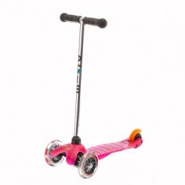 Самокат Micro Mini трёхколёсный розовый