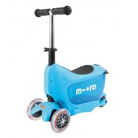 Самокат Micro Mini2go Deluxe голубой