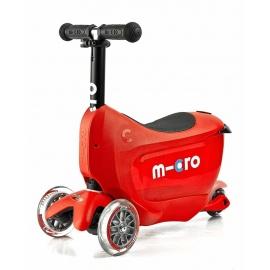 Самокат Micro Mini2go Deluxe красный