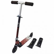 Зимний самокат на лыжах Playshion 2в1 Kids SnowScooter черный