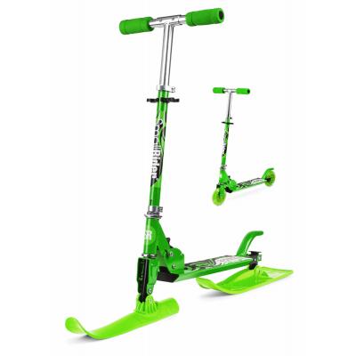 Снежный самокат-снегокат с лыжами и колесами Small Rider Combo Runner 120 зеленый