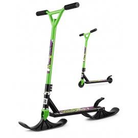 Зимний самокат на лыжах трюковый Small Rider Combo Runner BMX зеленый