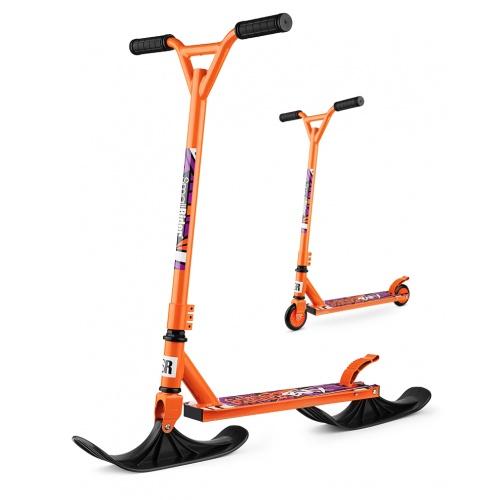Зимний самокат на лыжах трюковый Small Rider Combo Runner BMX оранжевый