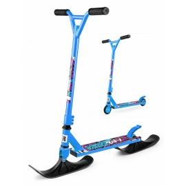 Зимний самокат на лыжах трюковый Small Rider Combo Runner BMX голубой