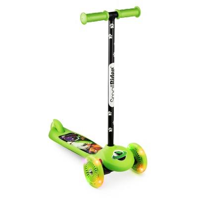 Самокат трехколесный Small Rider 2 в 1 Cosmic Zoo Scooter Flash зеленый