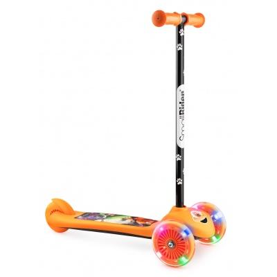 Самокат трехколесный Small Rider 2 в 1 Cosmic Zoo Scooter Flash оранжевый