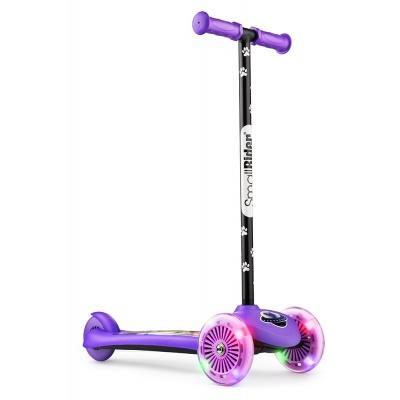 Самокат трехколесный Small Rider 2 в 1 Cosmic Zoo Scooter Flash фиолетовый