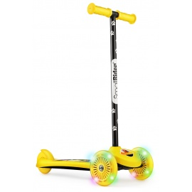 Самокат трехколесный Small Rider 2 в 1 Cosmic Zoo Scooter Flash желтый