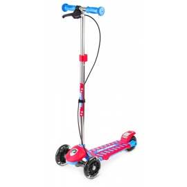 Самокат Small Rider Galaxy со светящимися колесами и тормозом сине-красный