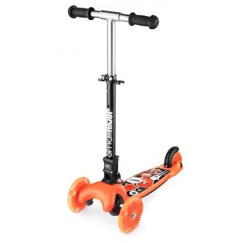 Самокат Small Rider Randy Flash со светящимися колесами оранжевый