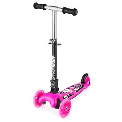 Самокат Small Rider Randy Flash со светящимися колесами розовый